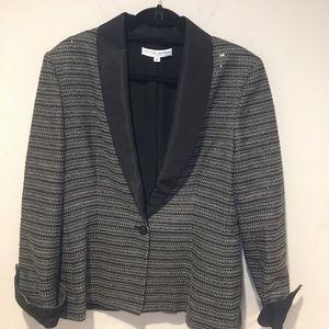 Carolina Herrera Sequin Tweed Blazer Size 16 EUC